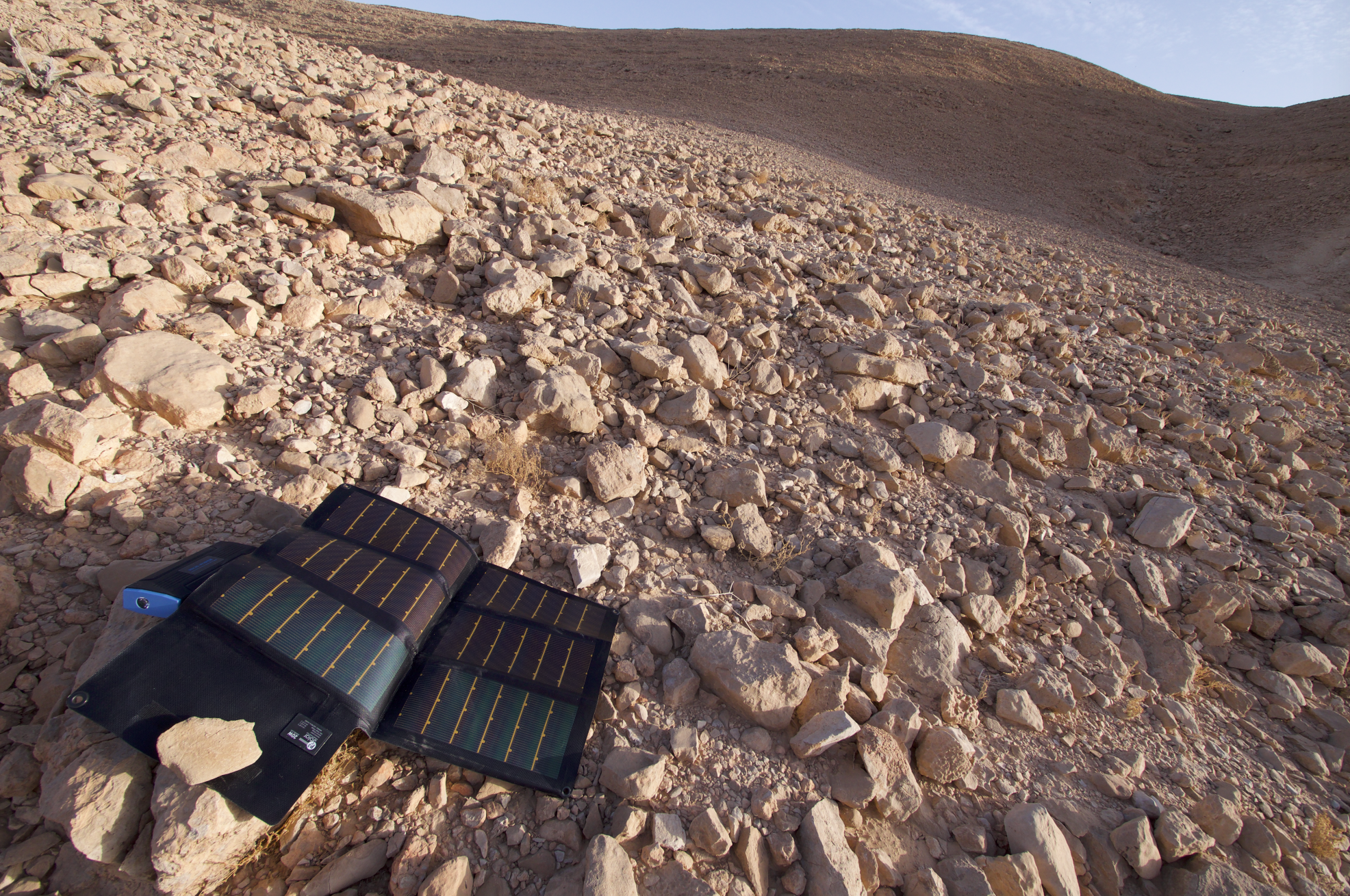 The P3 panel soaking up early morning Negev Desert sun.