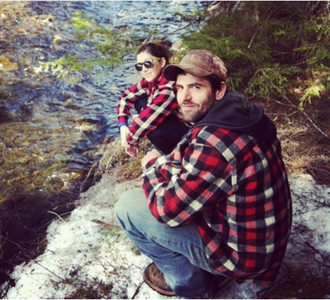 Darcie Baum and Mark Burroughs at their home in the southern Adirondacks