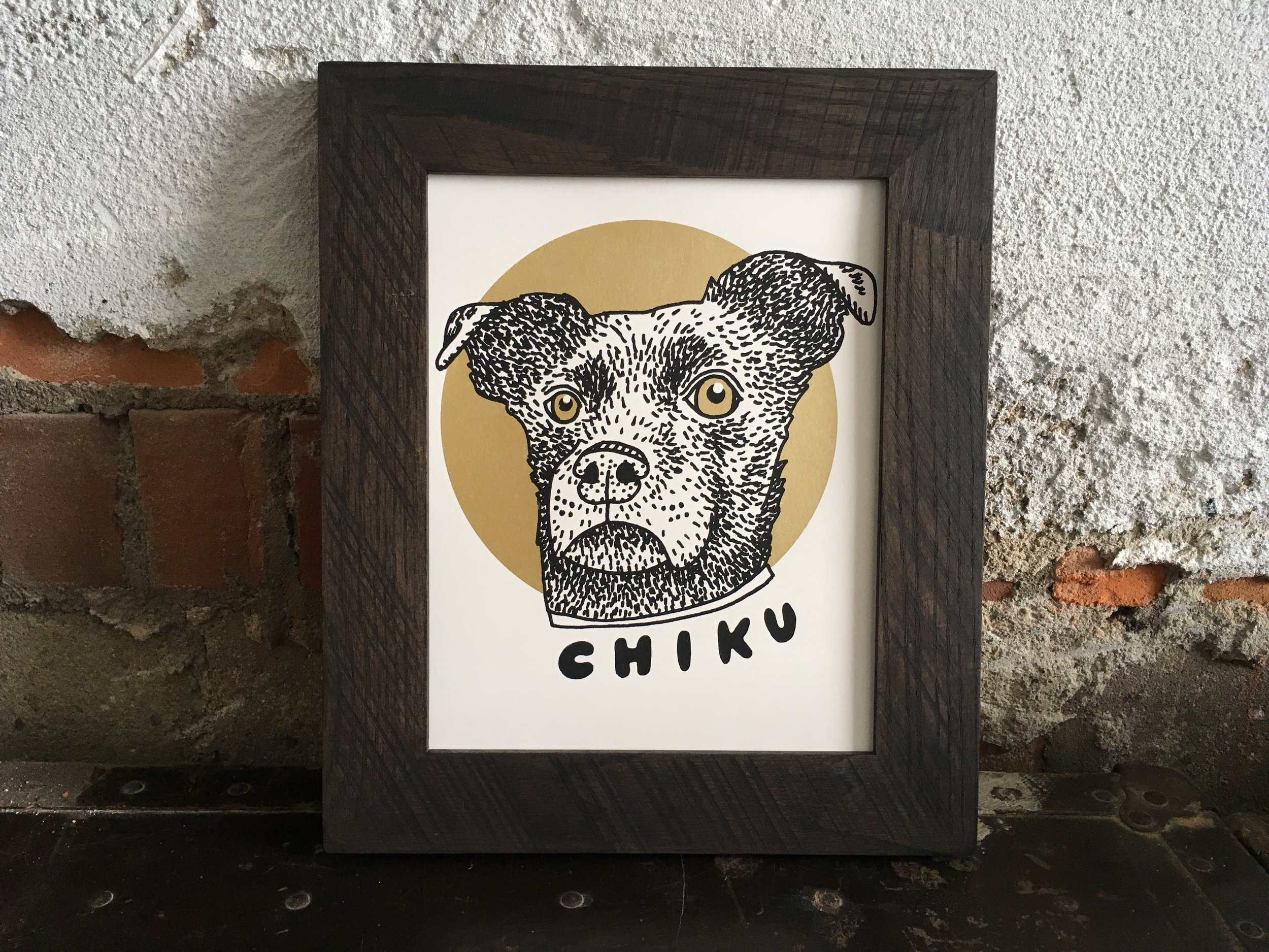 Portraits are available framed and unframed; frames by Mutual Adoration