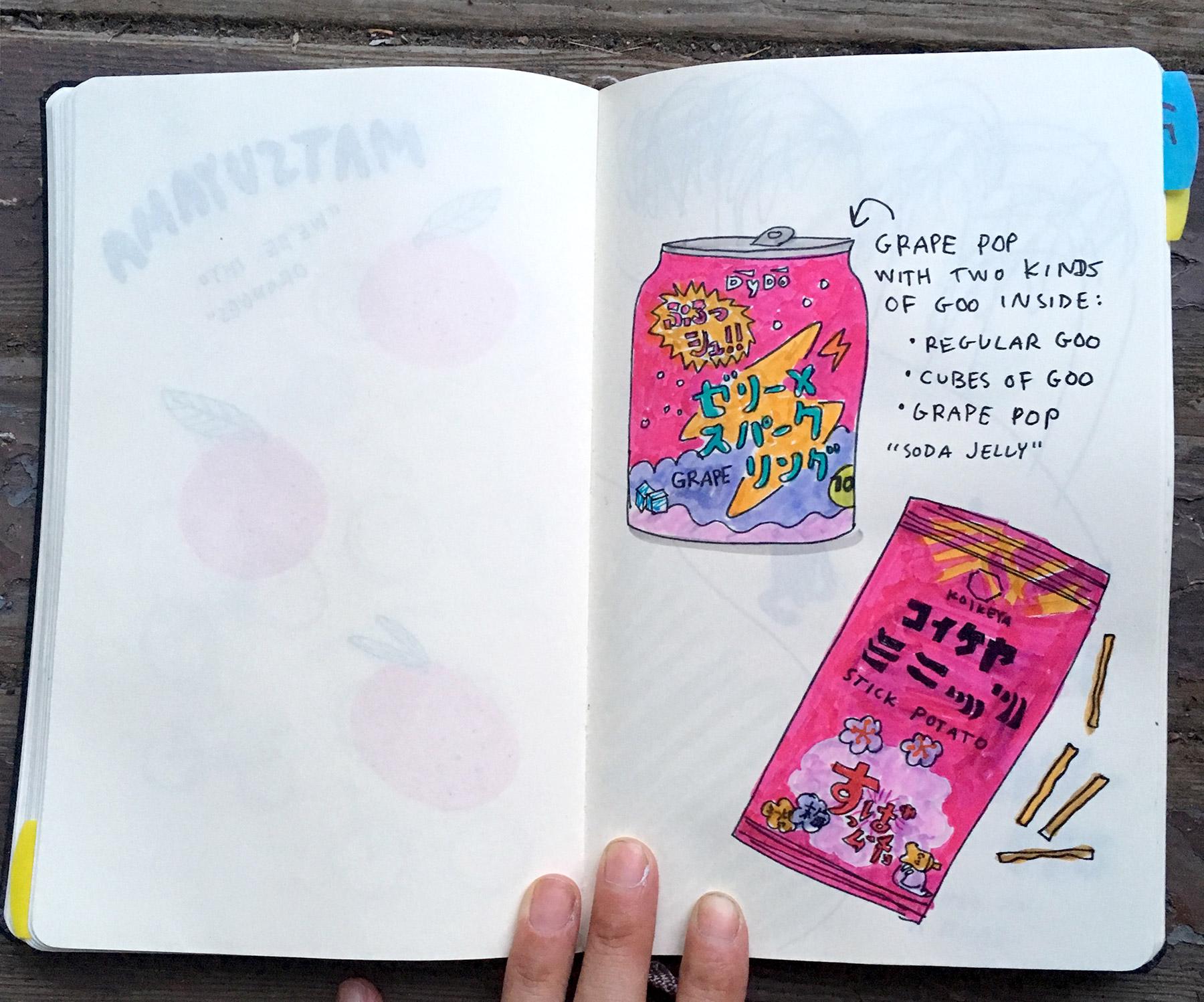 DyDo Soda Jelly from my Japan sketchbook