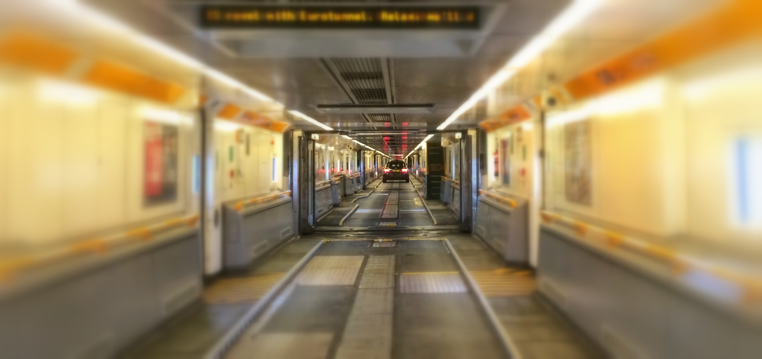 Inside the train in the tunnel - you want a hypersonic-mode to make everything go fast and blurry