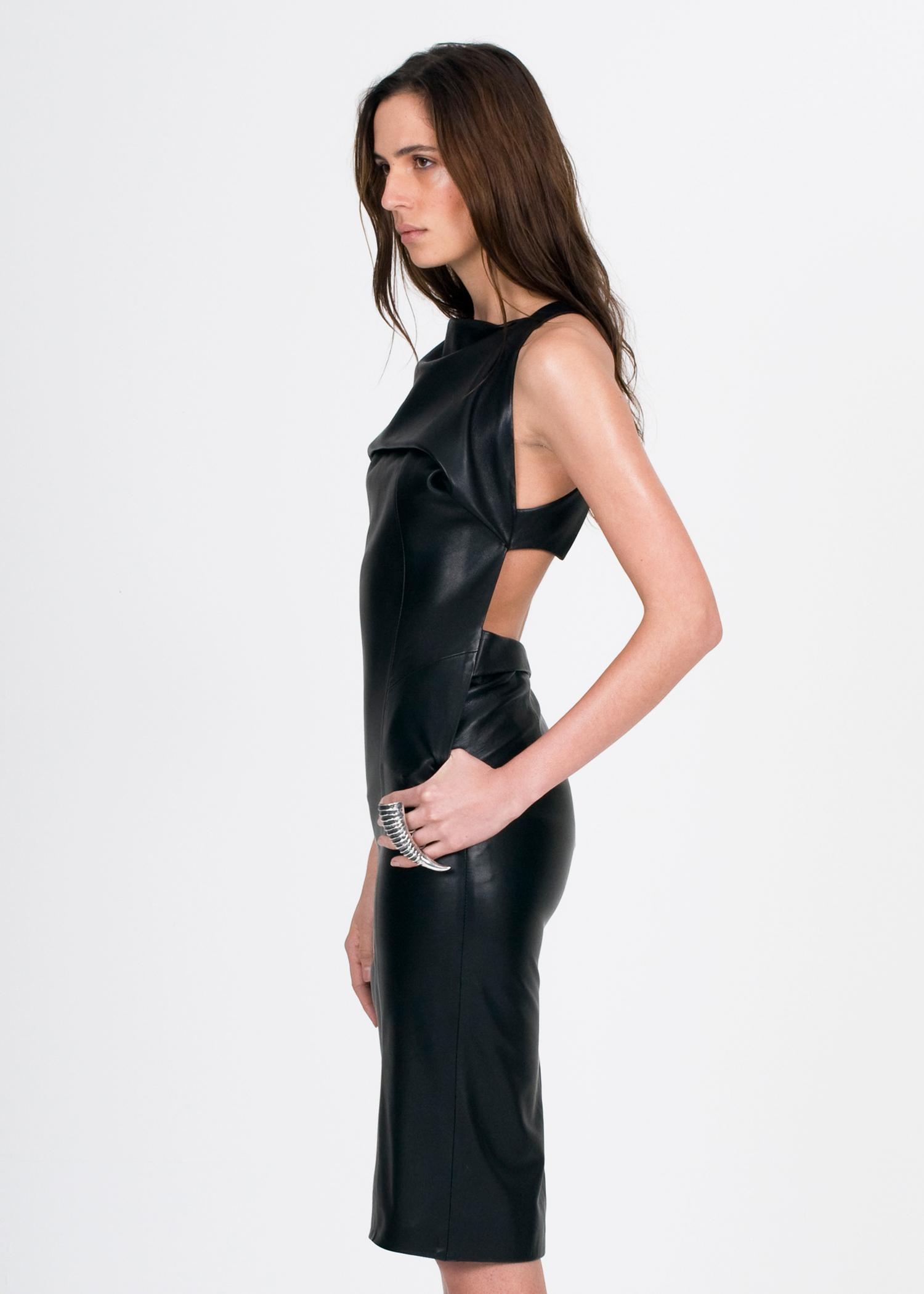 WALDMANN leather apron dress