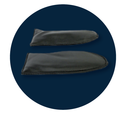 Soft Foot pads - Foot Pads are included to adjust the pressure of the foot rollers to your personal preference.