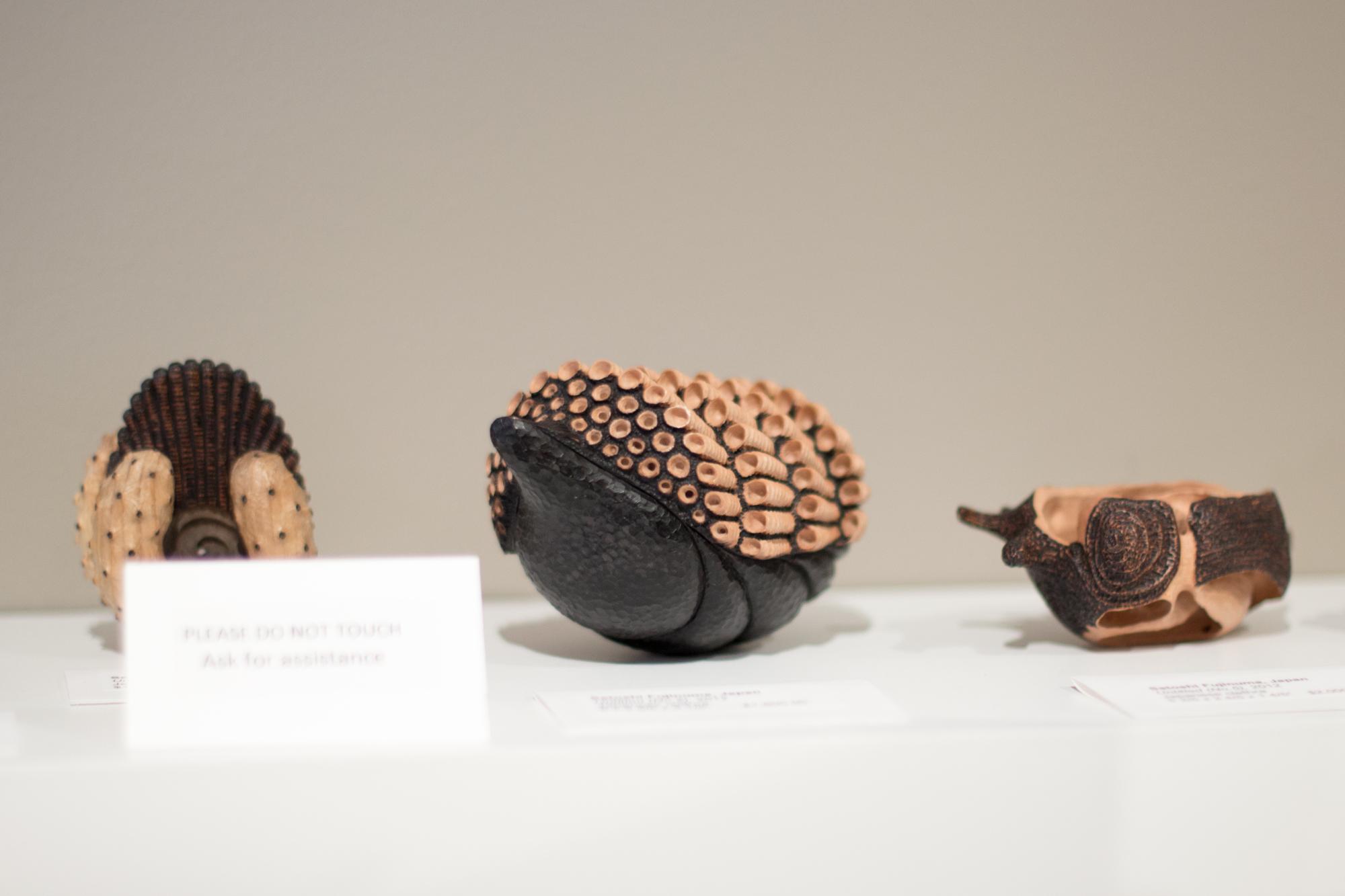 Satoshi Fujinuma's work in the Center's museum store.