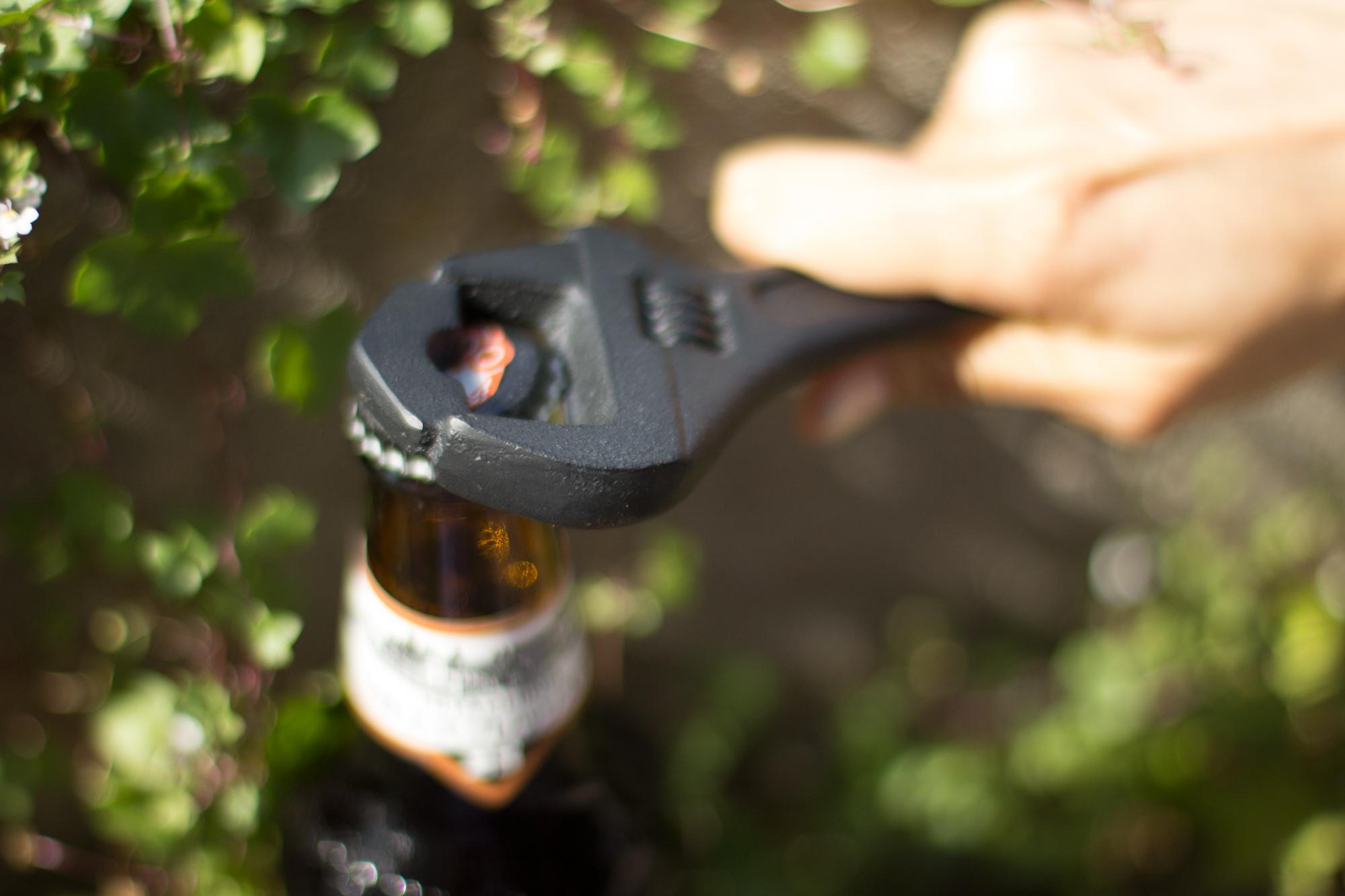 wrench cast iron bottle opener