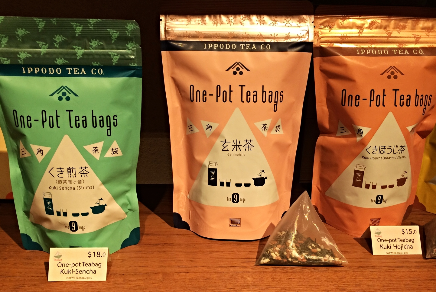 Ippodo carries over 40 types of Japanese green tea as well as tea accessories.