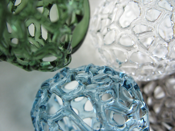 Mesh Glass Rings by Yoko Yano