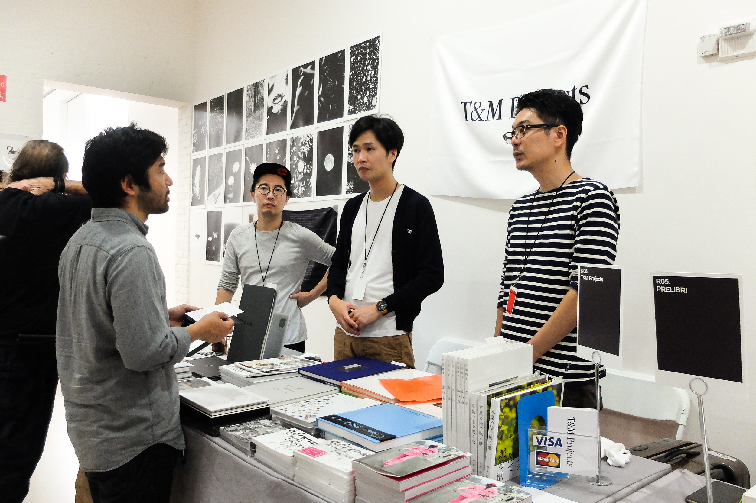 Our founder, Kaz, talking to Takahashi, on right.