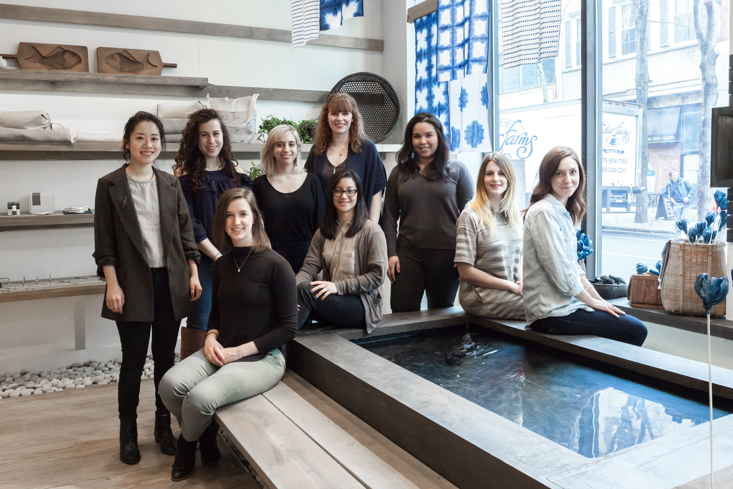The women of Rikumo, pictured from left:Jenny, Kacey, Rosemary, Magali, Dani Jo, Mary, Coral,   Sarah   and Caitlin.