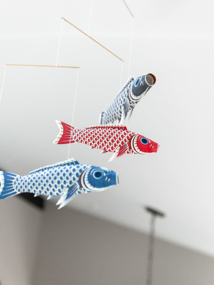 On the first week of May, families all over Japan hang koinobori (carp windsocks) in observance of Children's Day.