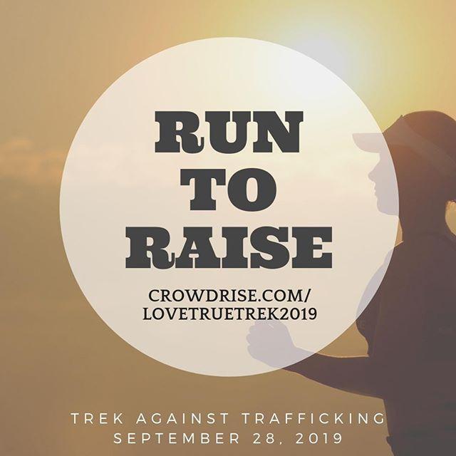 How about a little competition? Start a team and #runtoraise!  www.crowdrise.com/lovetruetrek2019