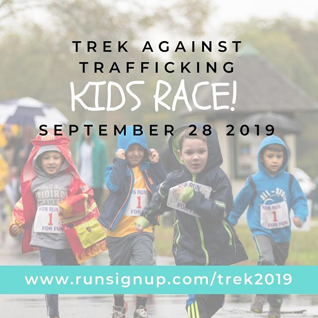 There's ways for everyone in your family to join us in ending sex trafficking. Sign your kids up for the kids race!  www.runsignup.com/trek2019  #endsextrafficking #endit #trekagainsttrafficking #lovetrue #runforfreedom #trek2019 #tat2019