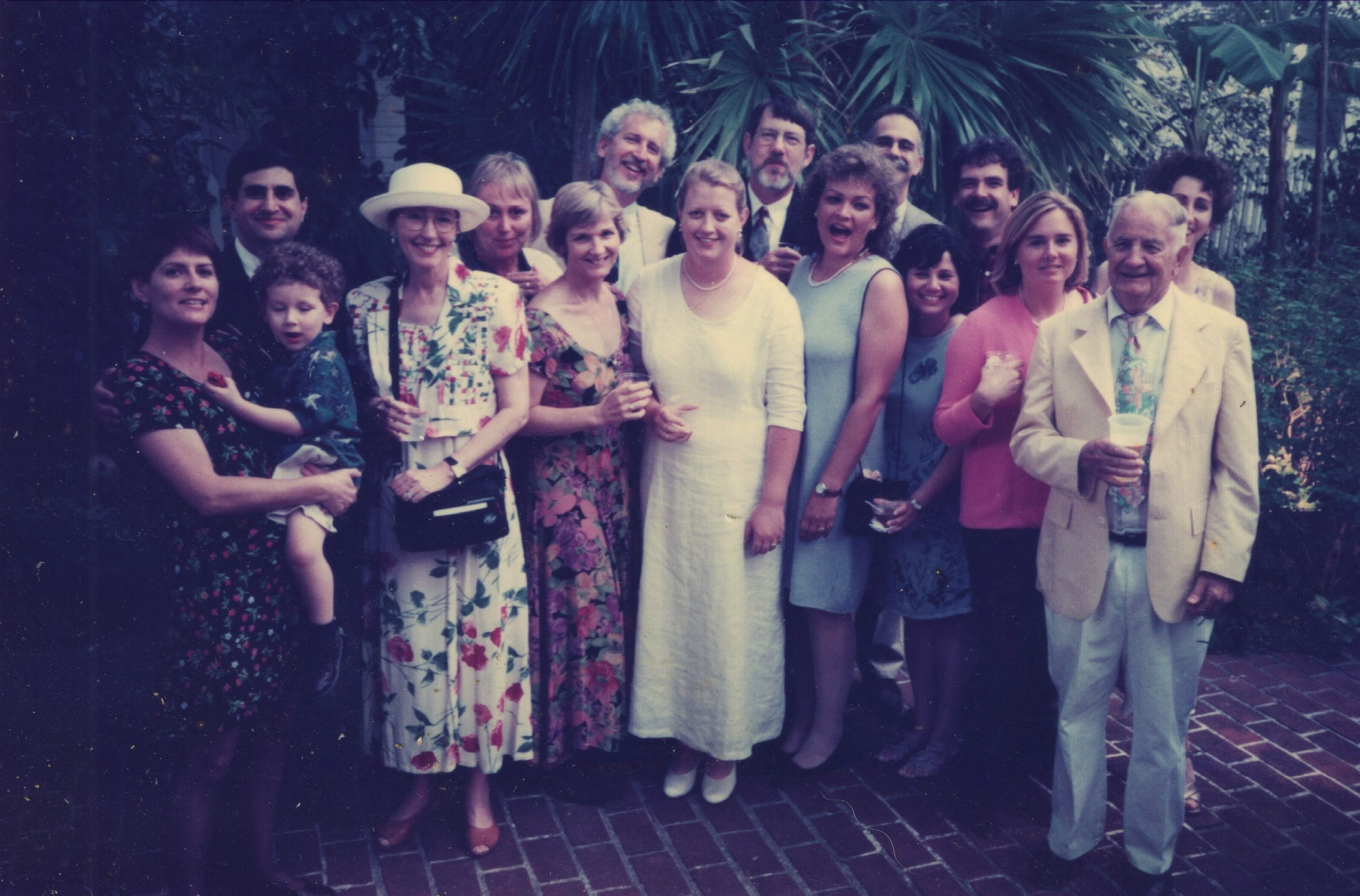 A whole lotta Miami Herald people came to my wedding in 1999. Photo by Rob O'Neal, I think.