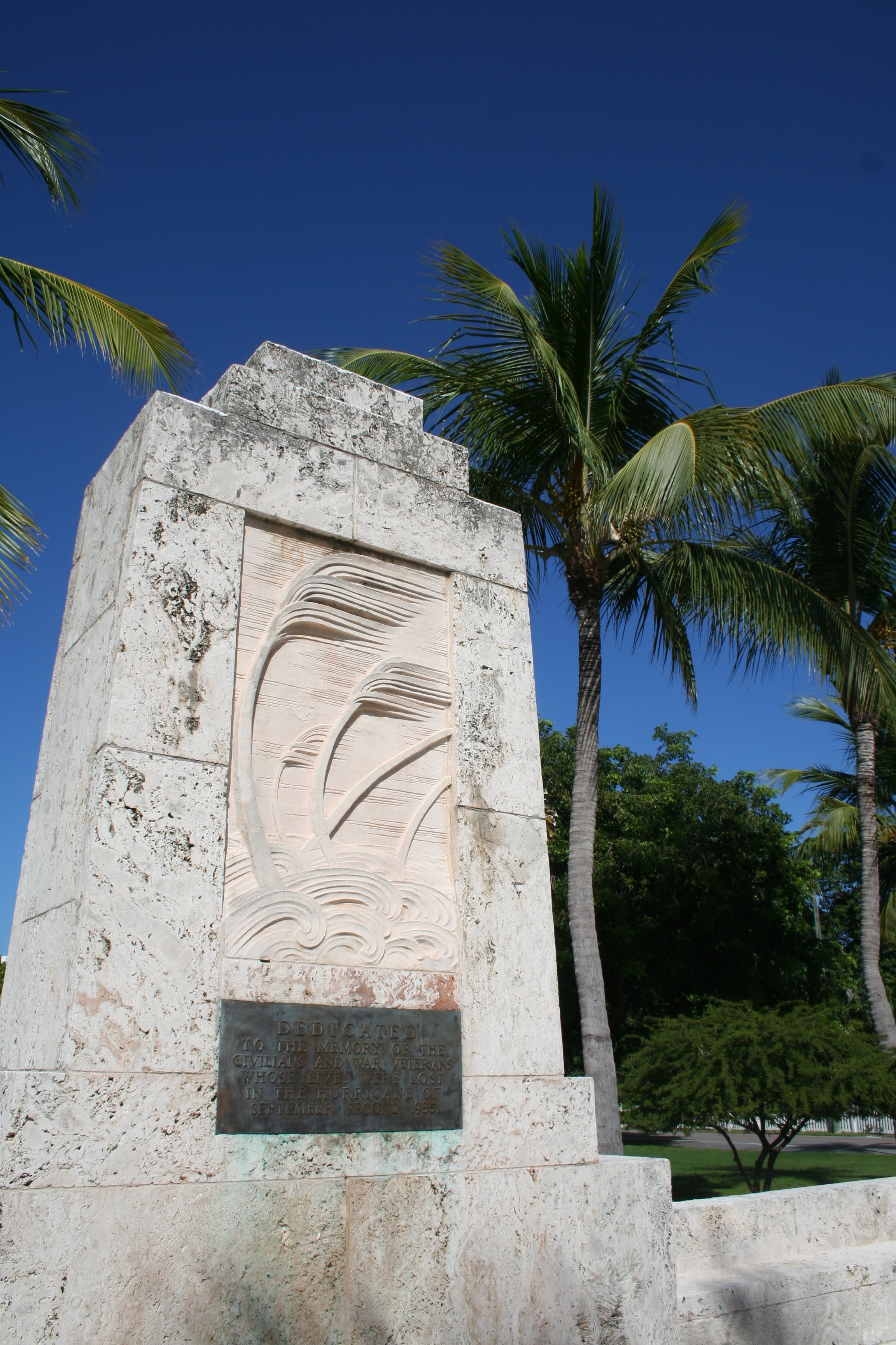 The Hurricane Memorial on Upper Matecumbe is also a crypt containing the remains of some storm victims. Every Labor Day, a service is held there in their memory. Photo by Nancy Klingener.
