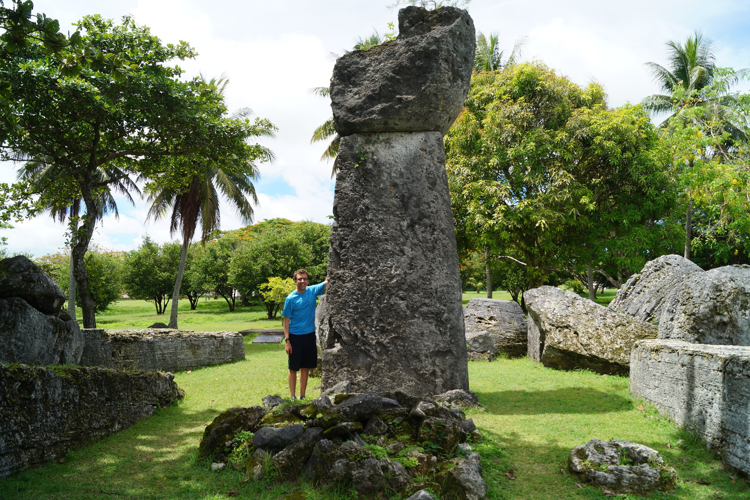 Writer Doug Mack on Tinian, one of the Northern Mariana Islands. He visited those islands, and many more, for his book The Not-Quite States of America. Photo courtesy of Doug Mack.