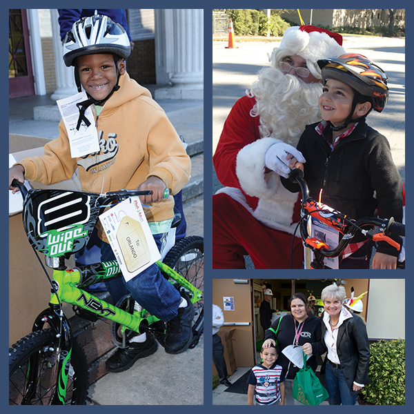 Wheels for Kids and Thanksgiving Turkey Programs benefiting the families of Reeves Terrace Public Housing