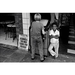 """SUBURBS IN PARADISE   During intense social and political turmoil in South Africa in the 1980's, Yudelman worked as a photojournalist for the Star Newspaper. This personal project """"Suburbs in Paradise"""". was photographed in and around the suburbs of Johannesburg.  [ view ]"""