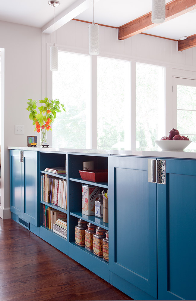 Custom cabinet room divider replacing wall
