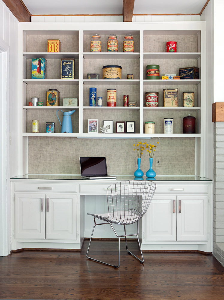 Office cabinet in family room