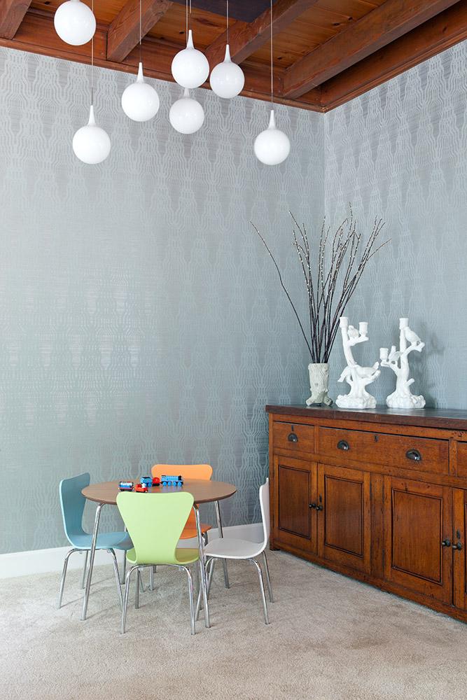 Nook near family room/Wallpaper