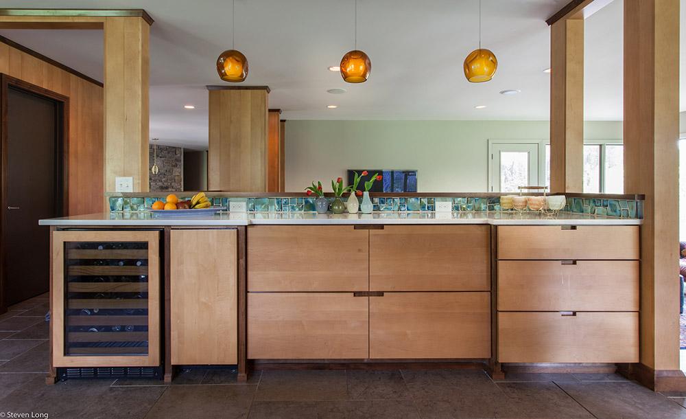 Custom maple cabinets/Cambria quartz countertops