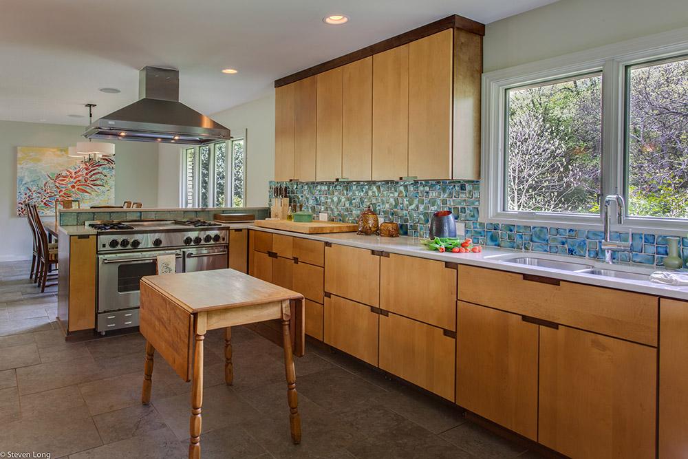Custom maple cabinets/Commercial Blue Star range