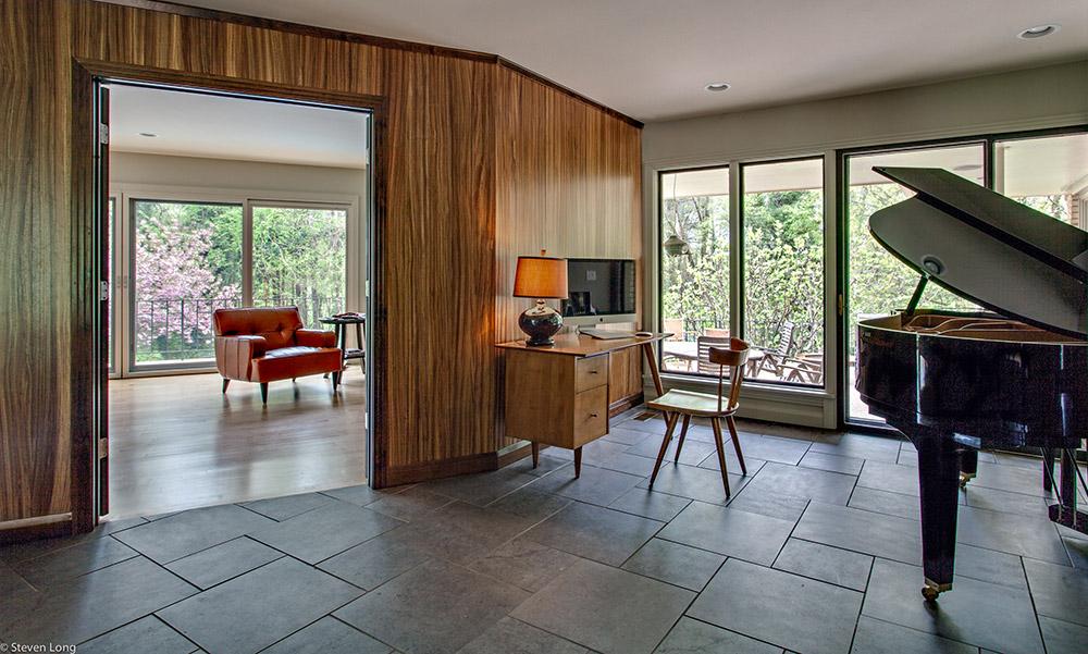 Zebra wood paneling/Heated tile floor/New Pella windows