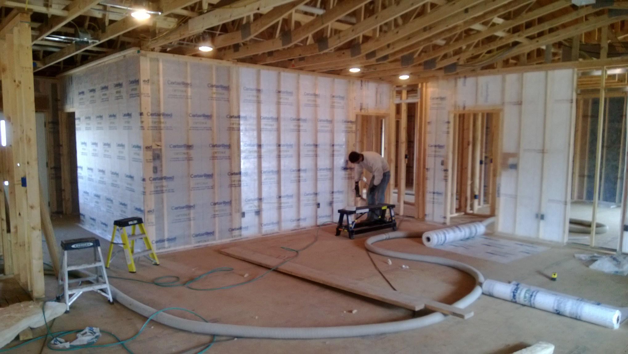 Blown in fiberglass insulation install in Jefferson City, MO.