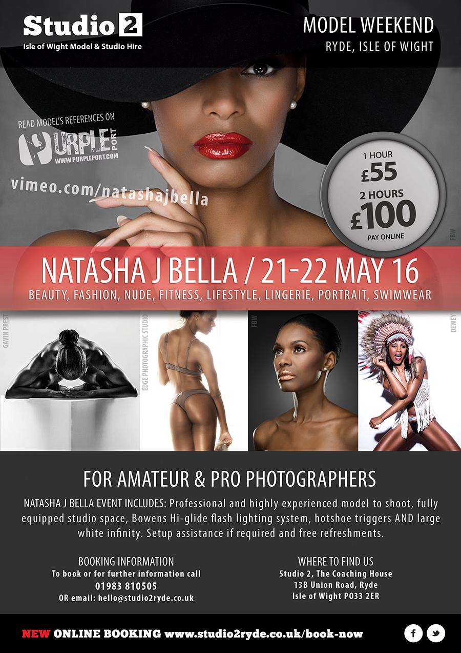 Natasha J Bella event flyer