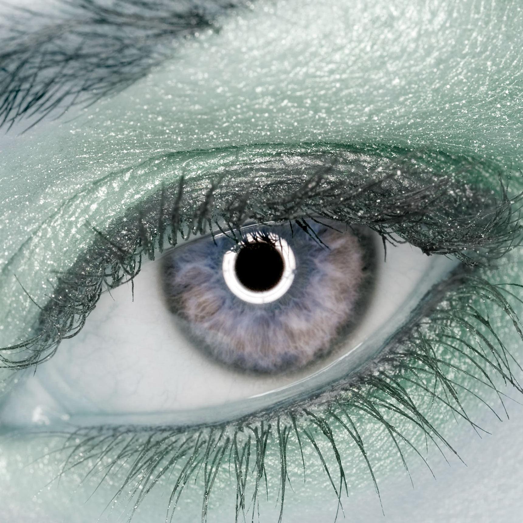 Ring flash in eye