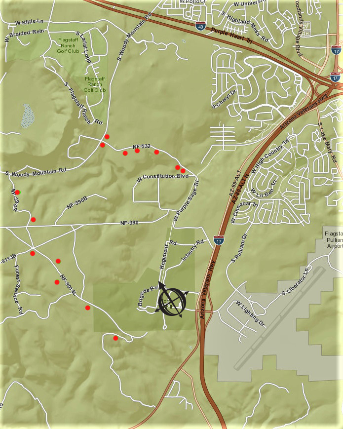 Coconino National Forest dispersed camping sites