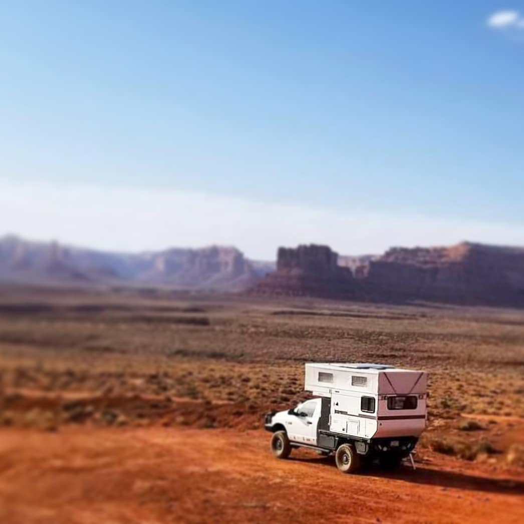 A Four Wheel Camper out exploring