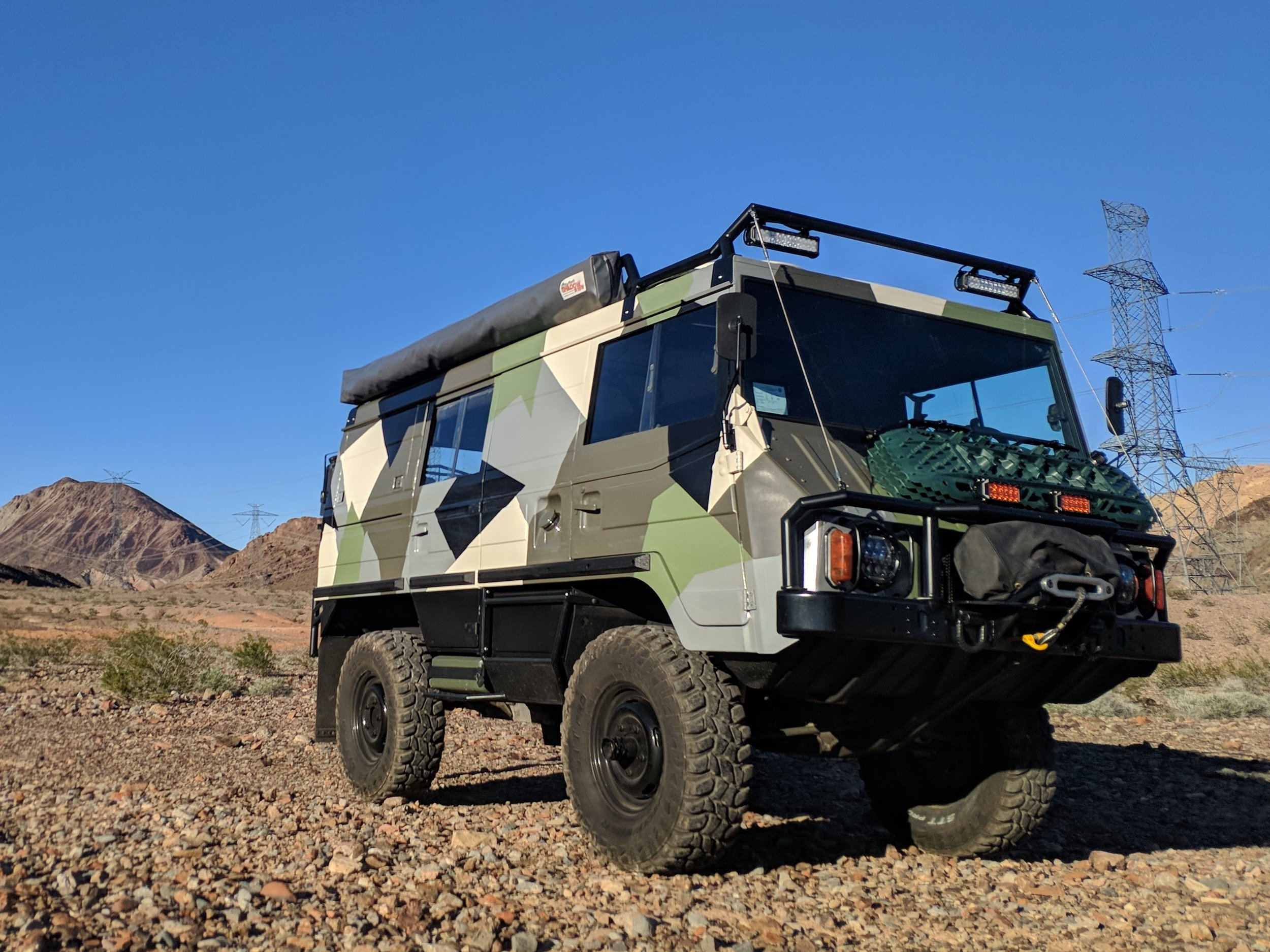Our 1975 Steyr Pinzgauer 710K has been a project 8 years in the making. Having parted with our Land Cruiser FJ40 we wanted a vehicle at least as capable but with a cargo capacity adequate too convert into an overland microcamper. After many trials, errors, adjustments and modifications to the Pinz we've just about dialed in the ideal vehicle for our exploration of roads less traveled.