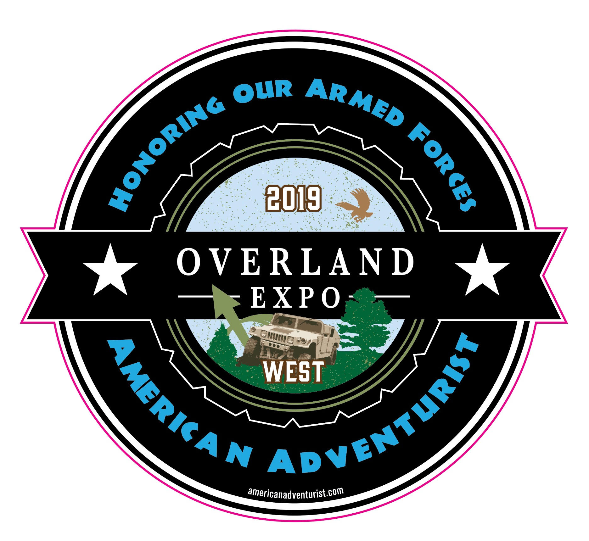 Active duty military and veterans can pick up this limited edition sticker from the American Adventurist display while supplies last.
