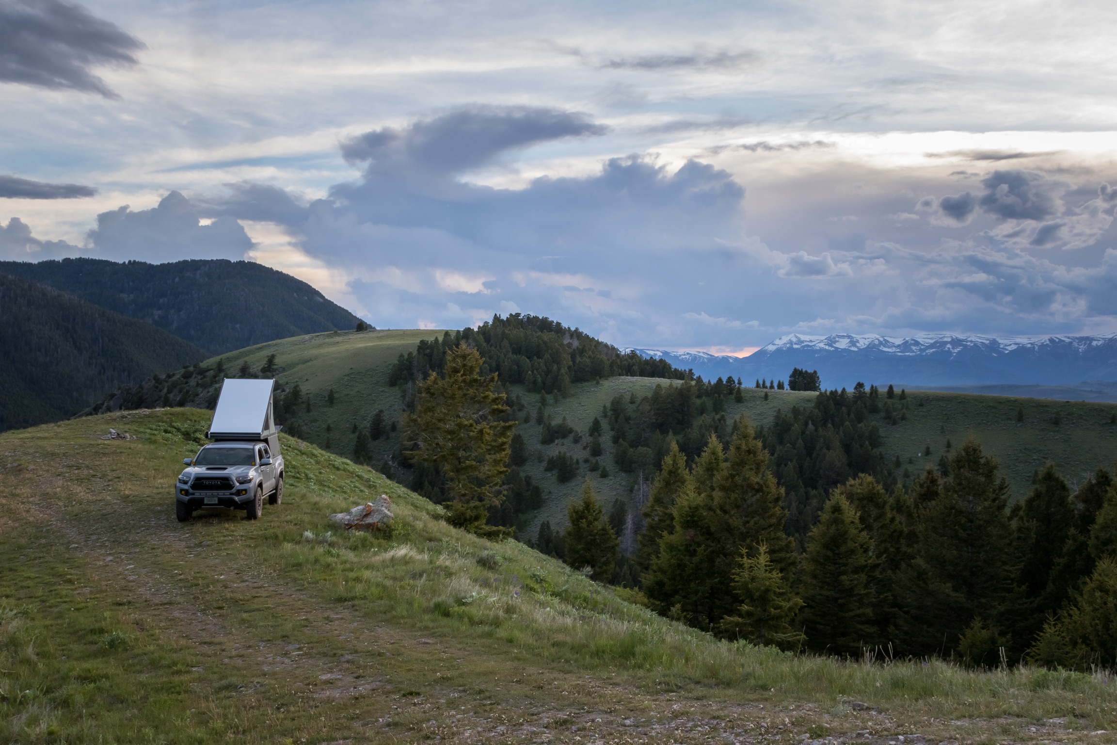 Photo by Zayne Watson  Camping outside of the Grand Teton National Park in our Go Fast Camper on a 4,200 mile trip from Ohio.