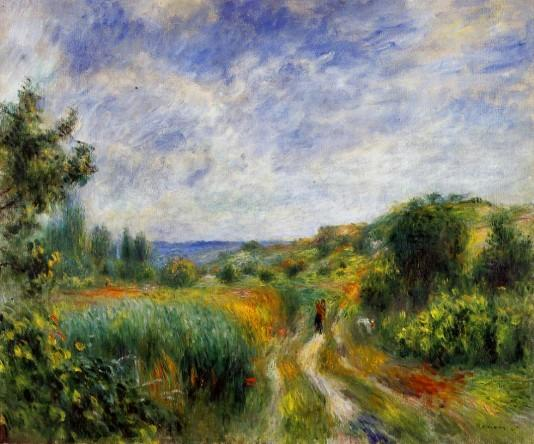 Landscape near Essoyes 1892