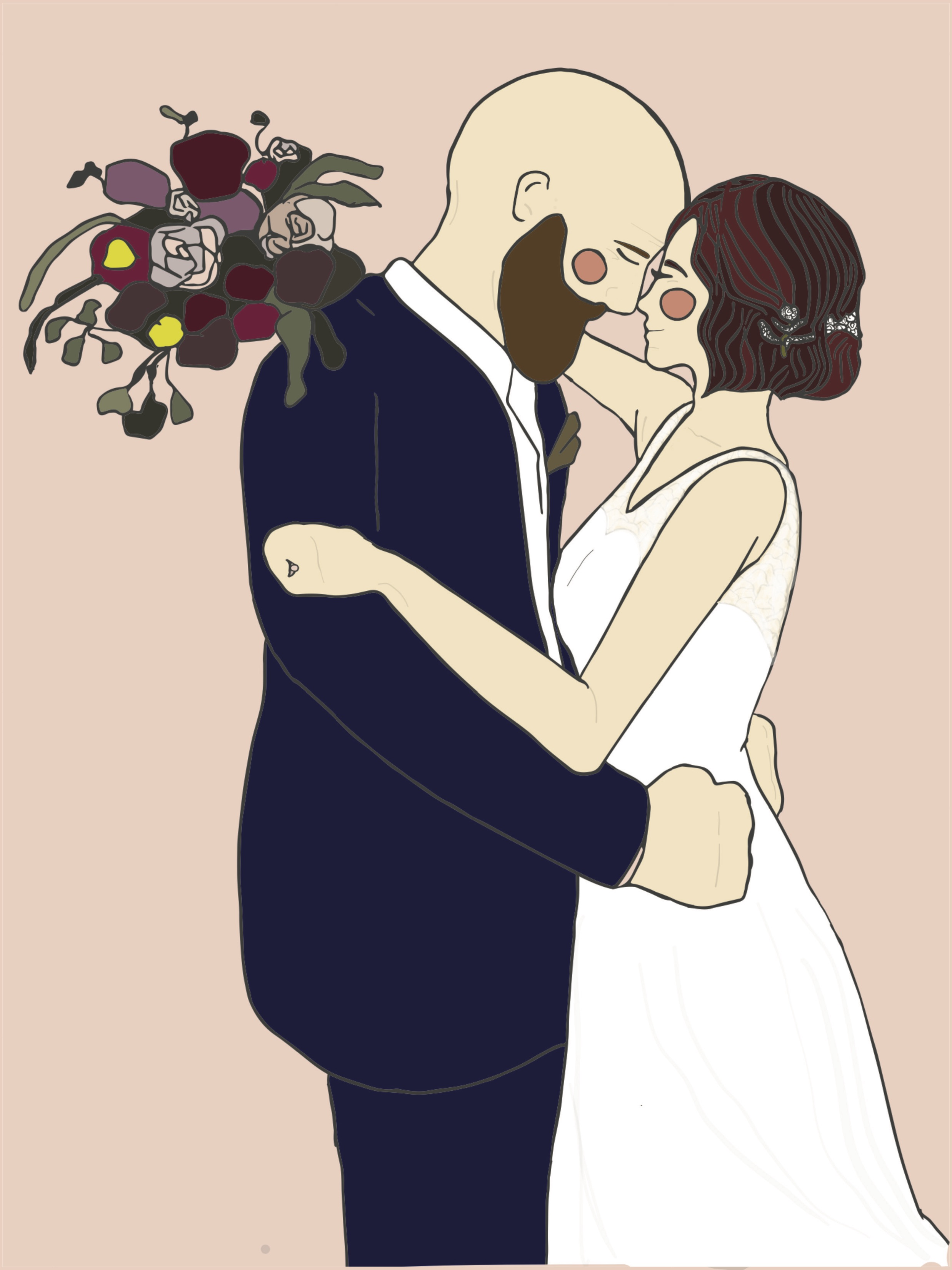 SPECIAL ILLUSTRATION - GET YOUR FAVORITE WEDDING PHOTO ILLUSTRATED