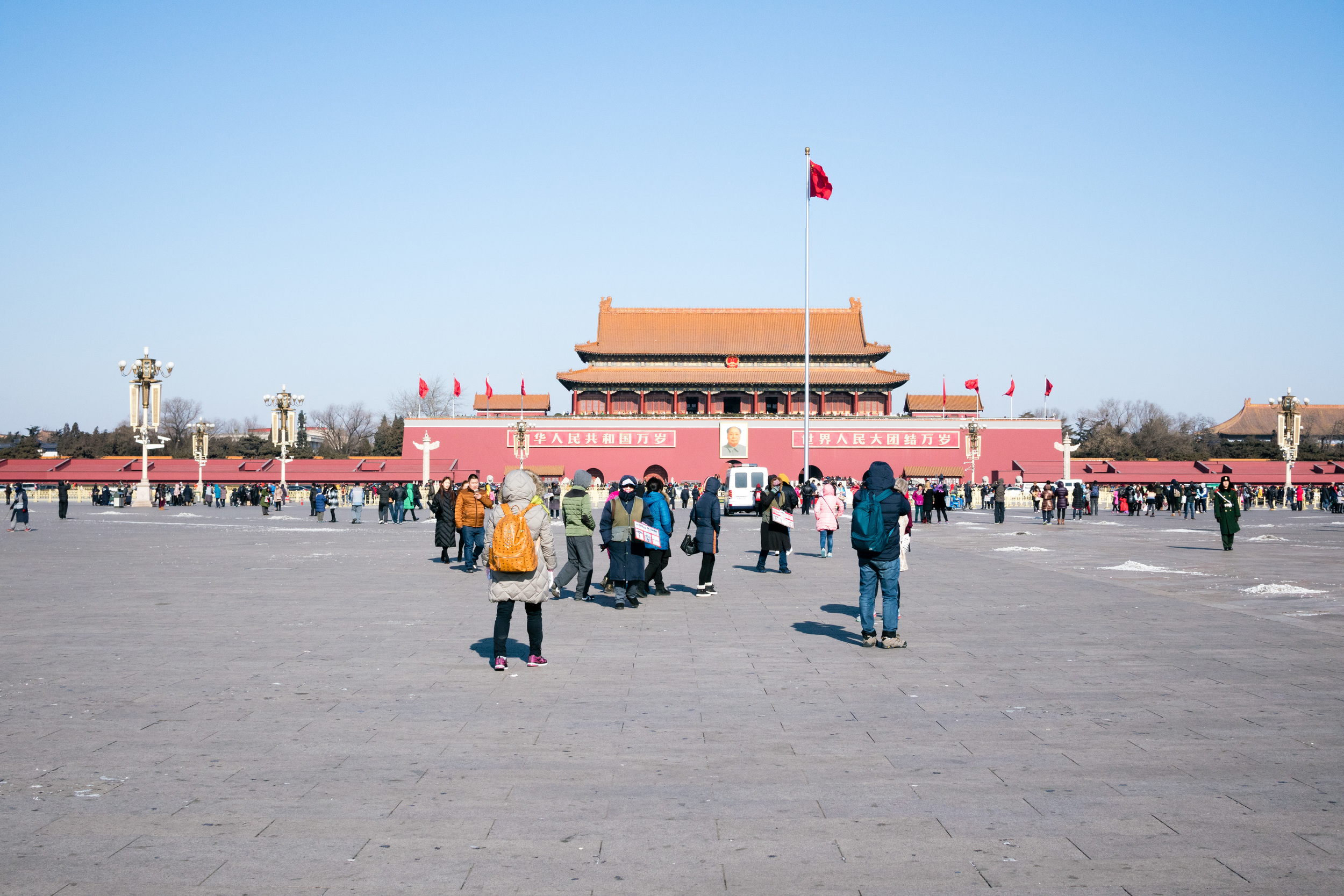 Tiananmen Square looking at the Forbidden City