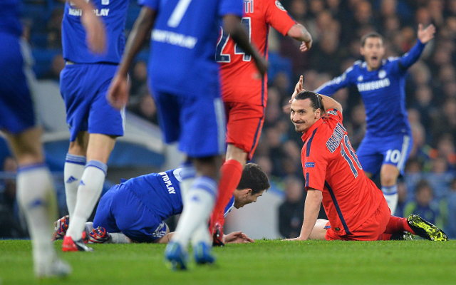 Not a red card. Thirty seconds or less of video review would've kept Ibrahimovic on the field.
