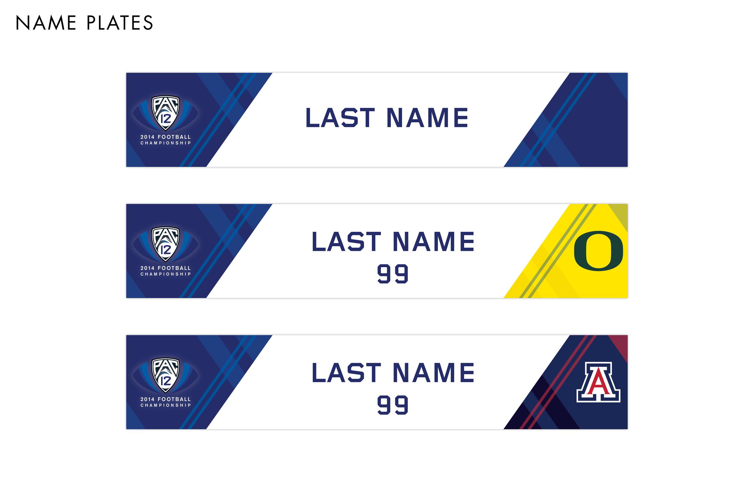 Pac-12 Football Championship Game Name Plates