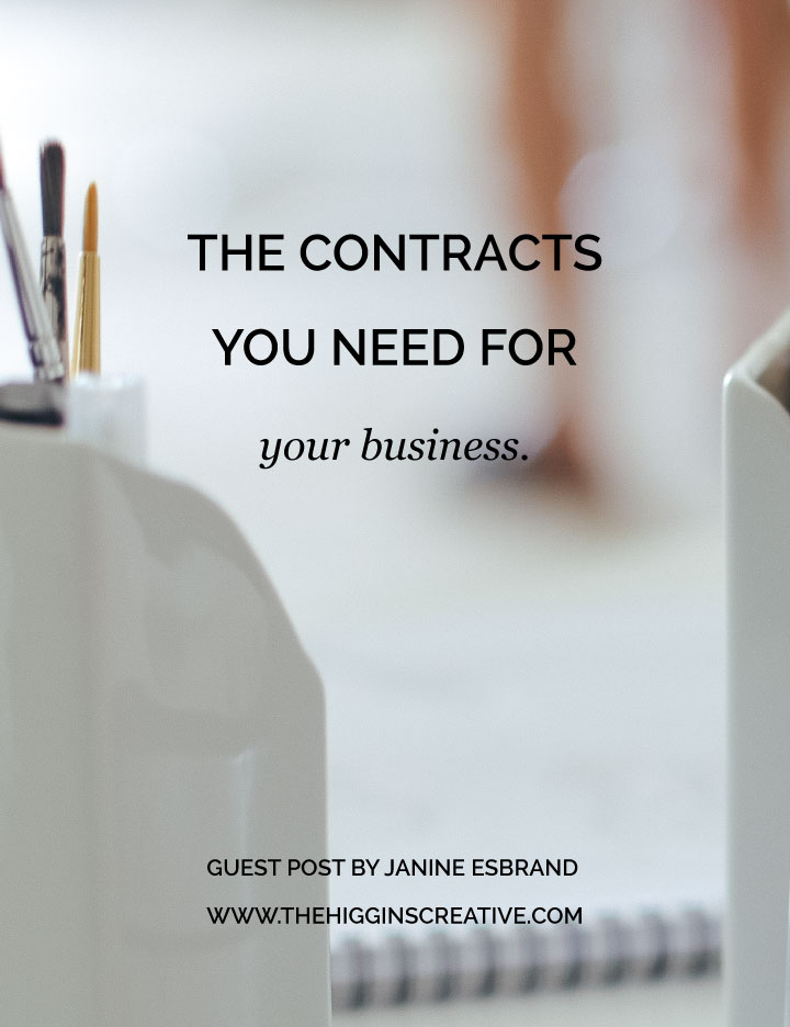 Talking about the legal side of your business may be daunting or even boring but it is something you really should prioritize. On the journal Janine gets into the types of contracts you need for your biz!  It's a total game changer for your biz and your peace of mind. You want to make sure your client is on the same page as you and creating contracts is the best way to do that.