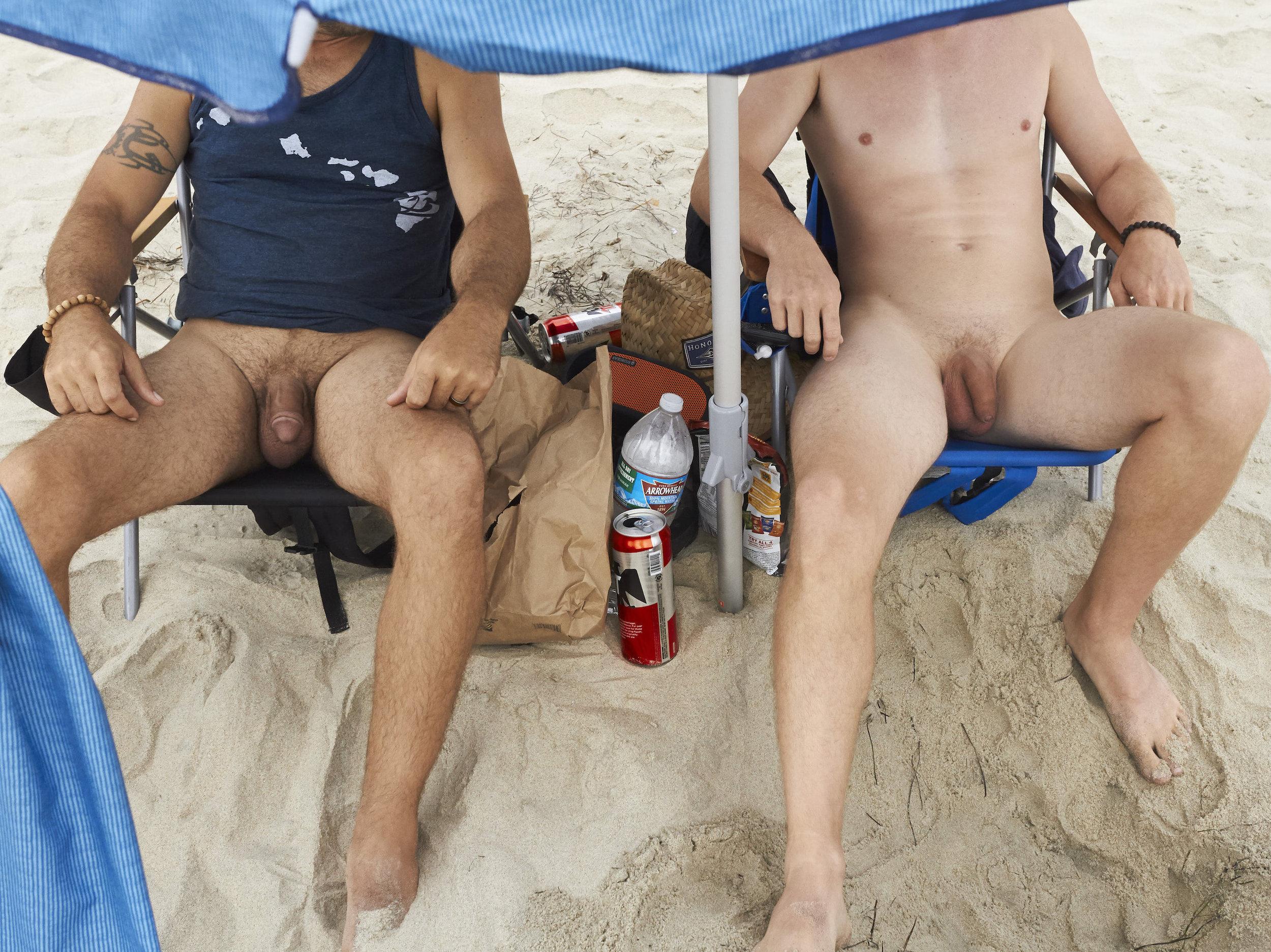 Men under Umbrellas