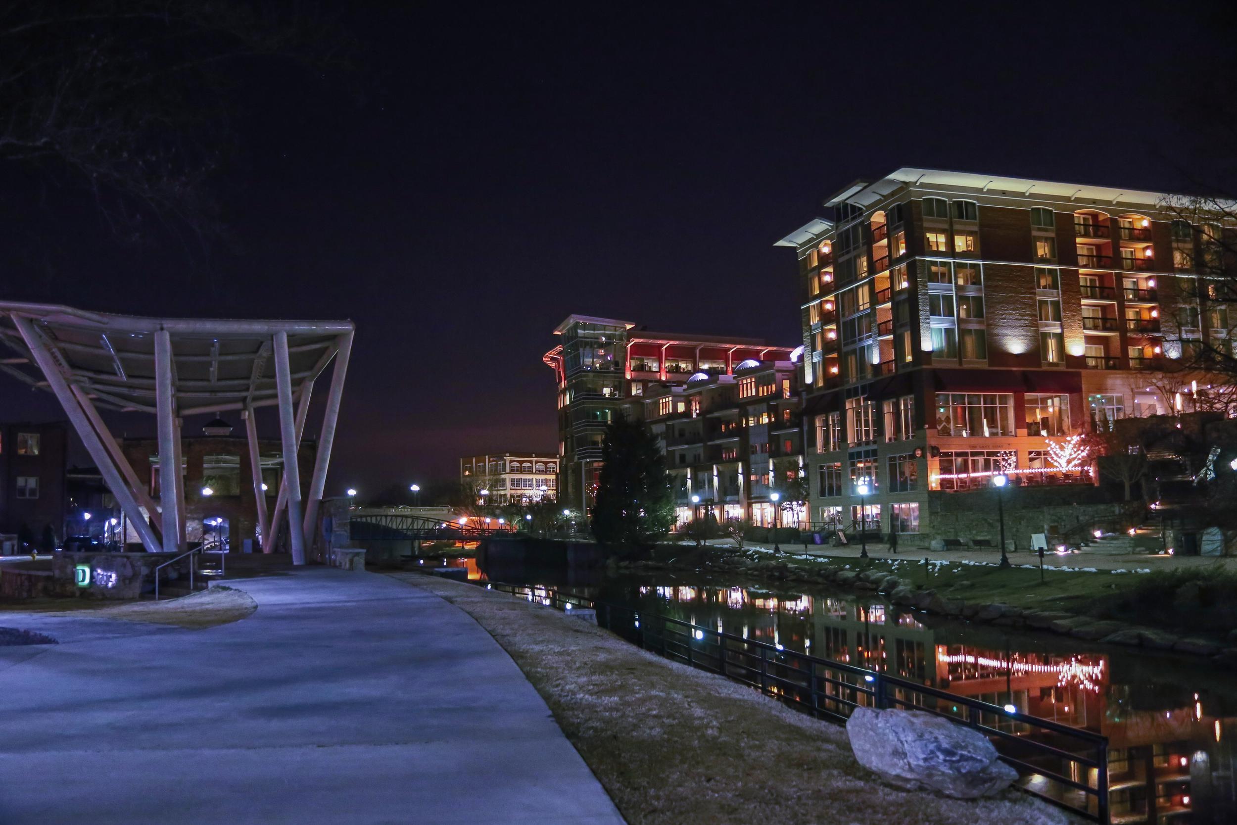Greenville At Night