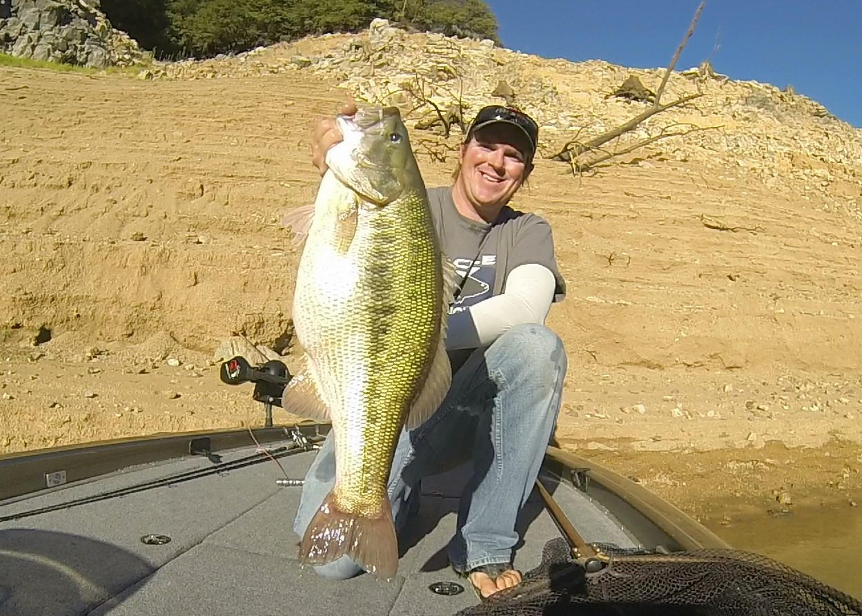 Matt with a GIANT Spotted Bass