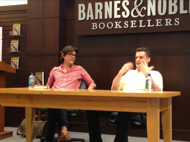 At B&N at the Grove in LA for the release of The Saints.