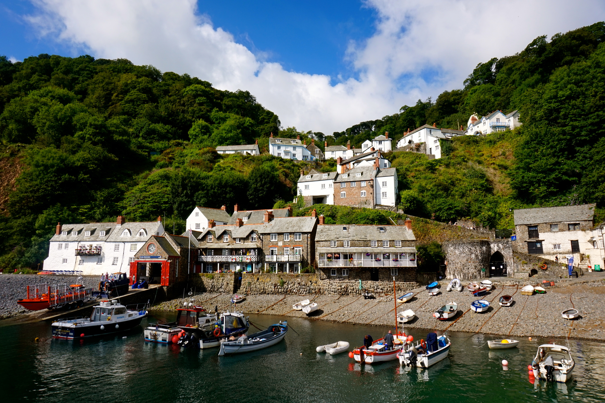 picturesque town by the sea
