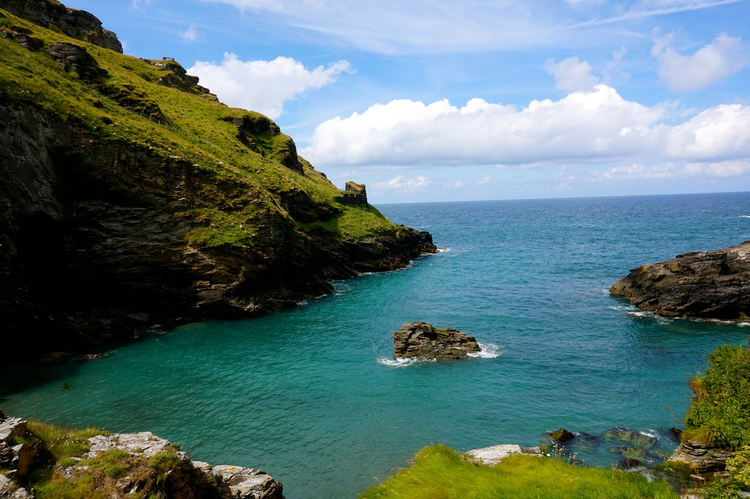 clear blue waters of Tintagel