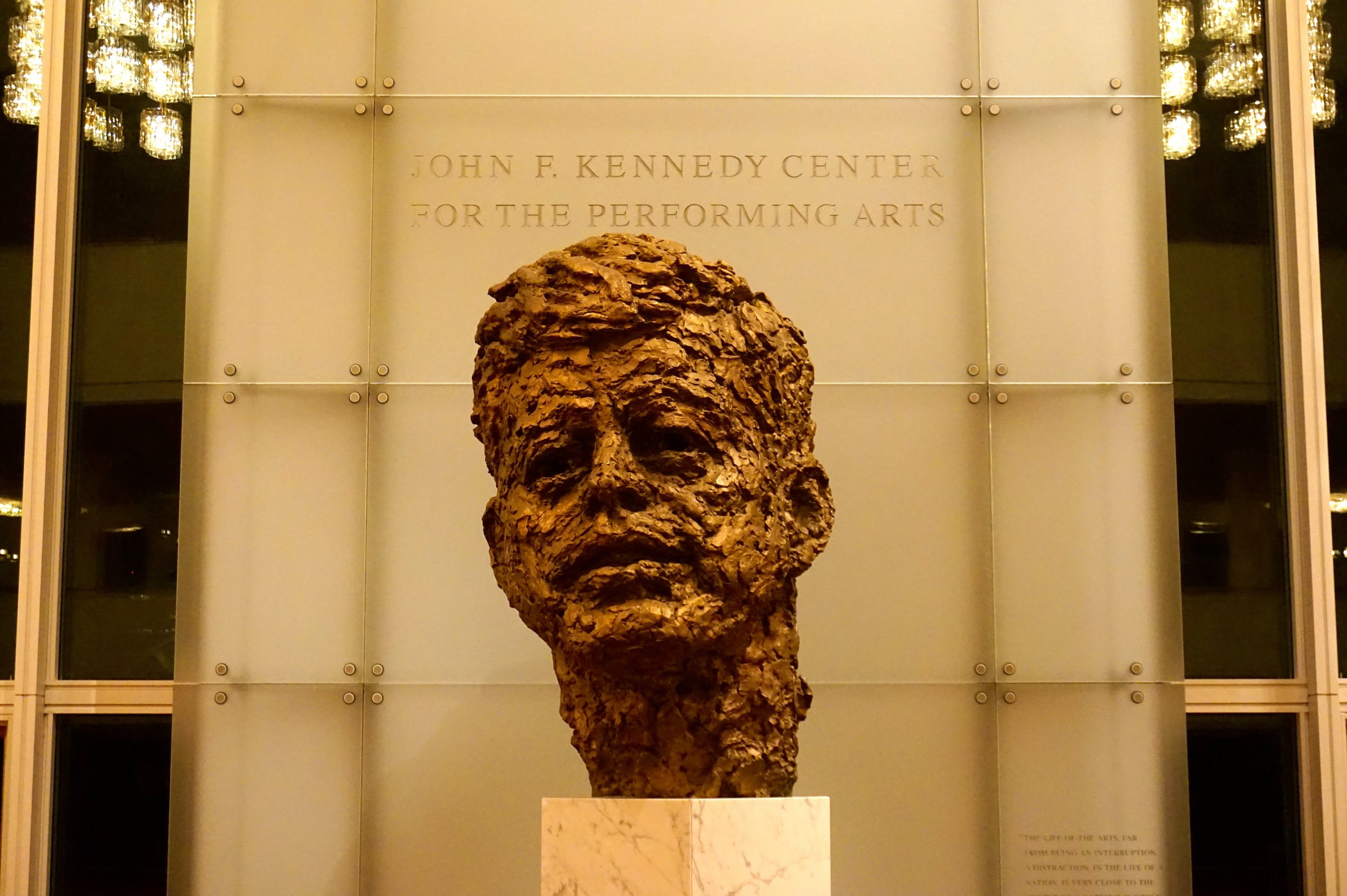Bust of JFK by Robert Berks