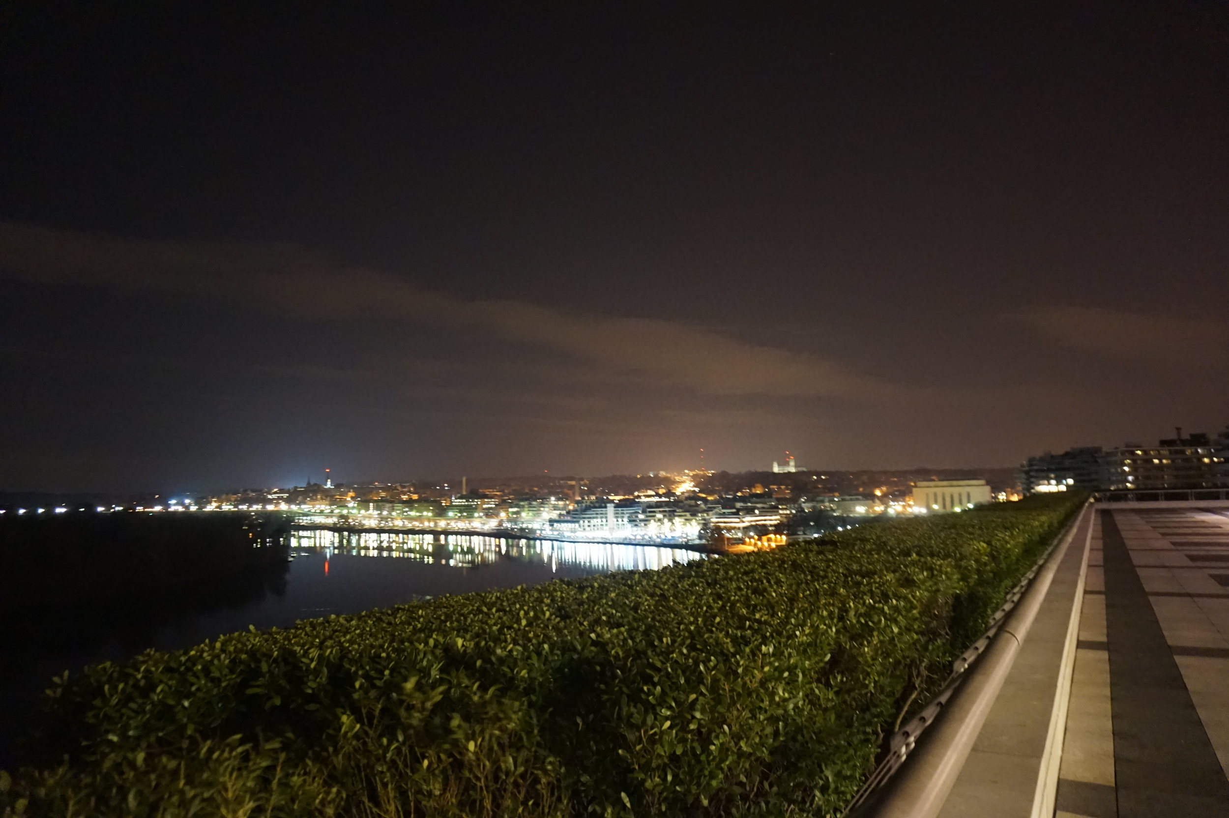Overlooking Georgetown at night