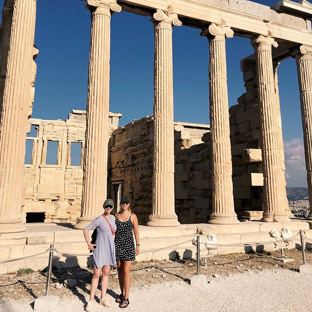 Your favorite Greek muses are back with one final adventure in and around Athens! Swipe 👉🏼 to see the start of us playing the ancient game, 'Categories' and check out lots more at amandafilchock.com...